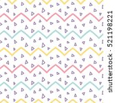 memphis seamless pattern design ... | Shutterstock .eps vector #521198221