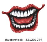 illustration of smiling mouth... | Shutterstock .eps vector #521201299