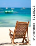 beach chair on perfect tropical ... | Shutterstock . vector #52120228