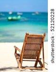 beach chair on perfect tropical ... | Shutterstock . vector #52120228