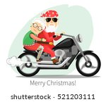 santa claus and mrs claus ... | Shutterstock .eps vector #521203111