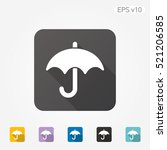colored icon of umbrella symbol ...   Shutterstock .eps vector #521206585