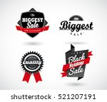 set of sale  black friday  the... | Shutterstock .eps vector #521207191