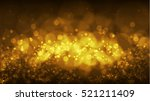 abstract gold snow flake... | Shutterstock .eps vector #521211409