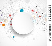abstract geometric vector... | Shutterstock .eps vector #521212285