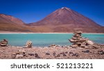 the green lagoon laguna verde... | Shutterstock . vector #521213221