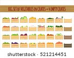 vector crates with fresh fruits ... | Shutterstock .eps vector #521214451