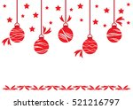 red christmas balls set symbols ... | Shutterstock .eps vector #521216797