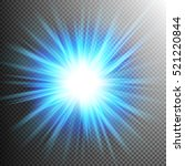 light effect transparent flare... | Shutterstock .eps vector #521220844