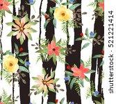 Illustration Of Floral Seamless....