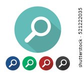 magnifying glass icon flat... | Shutterstock .eps vector #521222035
