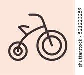 baby bike bicycle minimalistic... | Shutterstock .eps vector #521223259