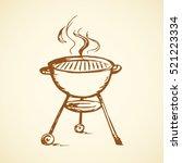 modern new blank circle grate...   Shutterstock .eps vector #521223334