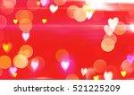 red beautiful shining... | Shutterstock . vector #521225209