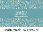 happy new year luxury gold... | Shutterstock .eps vector #521226979