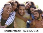 portrait of six young adult... | Shutterstock . vector #521227915
