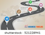 design template  road map... | Shutterstock .eps vector #521228941