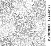 tracery seamless calming... | Shutterstock . vector #521230489