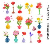 colorful collection art vases...   Shutterstock .eps vector #521231917