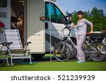 caravan car vacation. family... | Shutterstock . vector #521239939