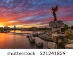 keeper of the plains and city... | Shutterstock . vector #521241829