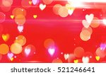 beautiful happy shining red... | Shutterstock . vector #521246641
