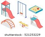 isometric flat 3d concept web... | Shutterstock .eps vector #521253229
