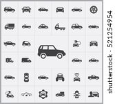 suv icon. car icons universal... | Shutterstock .eps vector #521254954