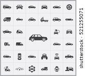 car icons universal set for web ... | Shutterstock .eps vector #521255071