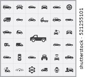 car icons universal set for web ... | Shutterstock .eps vector #521255101
