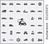 electro car icon. car icons... | Shutterstock .eps vector #521255371