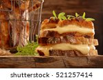 fresh sandwich with cheese and... | Shutterstock . vector #521257414