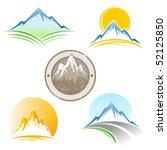 set of vector mountains emblem   Shutterstock .eps vector #52125850