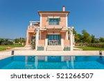 luxury villa exterior with pool ... | Shutterstock . vector #521266507