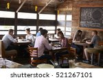 couples enjoying lunch at a... | Shutterstock . vector #521267101