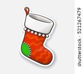 vector illustration. christmas... | Shutterstock .eps vector #521267479