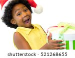 close up portrait of exited... | Shutterstock . vector #521268655