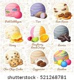 set of cartoon vector icons... | Shutterstock .eps vector #521268781