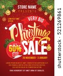 christmas sale design template. ... | Shutterstock .eps vector #521269861