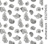 seamless pattern sea shell.... | Shutterstock .eps vector #521270431