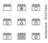 calender date schedule winter... | Shutterstock .eps vector #521271661