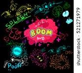 cartoon cloud icons in comic... | Shutterstock .eps vector #521271979