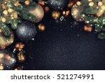 christmas balls.   Shutterstock . vector #521274991