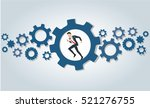 businessman running in wheel... | Shutterstock .eps vector #521276755