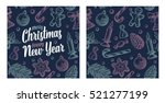 seamless pattern for merry... | Shutterstock .eps vector #521277199