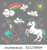 fashion patch badges. magic set.... | Shutterstock .eps vector #521278909