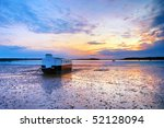 Low Tide And Sunset  Poole...