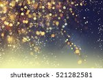 abstract christmas lights on... | Shutterstock . vector #521282581