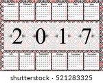 calendar for 2017 on white... | Shutterstock .eps vector #521283325