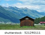green alps view from side... | Shutterstock . vector #521290111